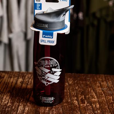 Crimson colored Wild Ace Camelbak bottle.