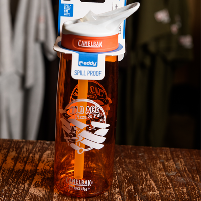 Orange Wild Ace Camelbak bottle.