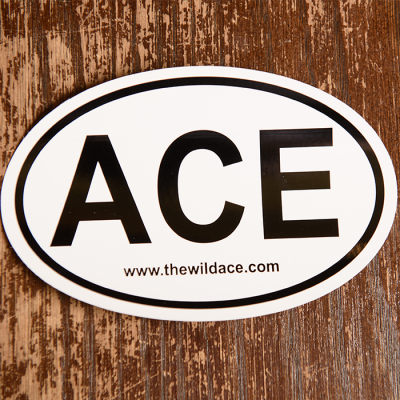 Decal from Wild Ace Pizza in Greer, SC.